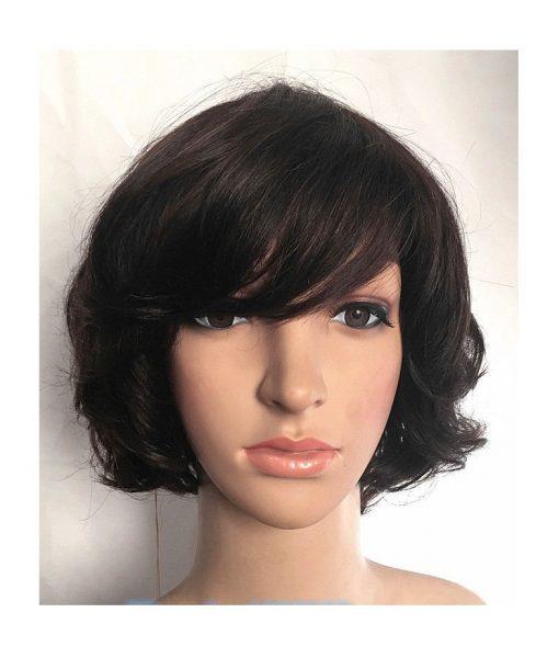 Human Hair Short Wavy Wig