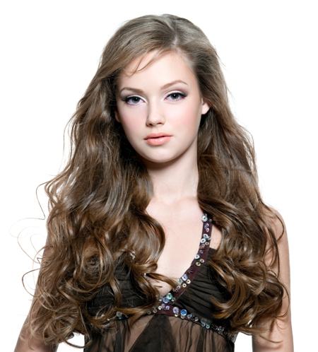 Indian Wavy Long Wig for Round Faces