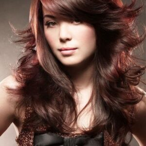 Messy Long Hair Style Wig for Indian Girls with Round Faces Images