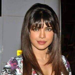 Sleek Front Bangs Wig for Indian Long Hairstyle Pictures