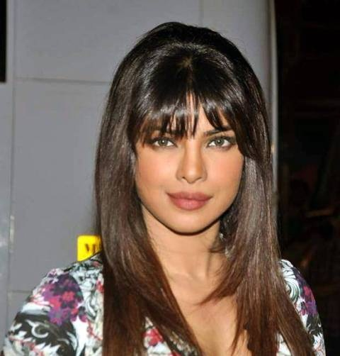 Sleek Front Bangs Wig for Indian Long Hairstyle