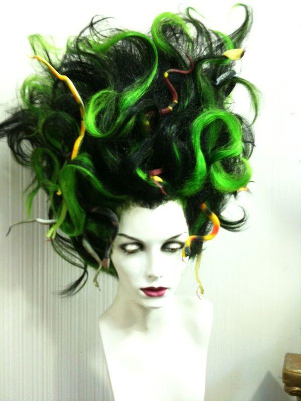 medusa wigs halloween costume wig costumes makeup hair character headpiece snake mar colored peinados fantasia maquillaje yahoo guardado desde