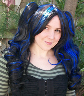 Black And Blue Wig Hairturners