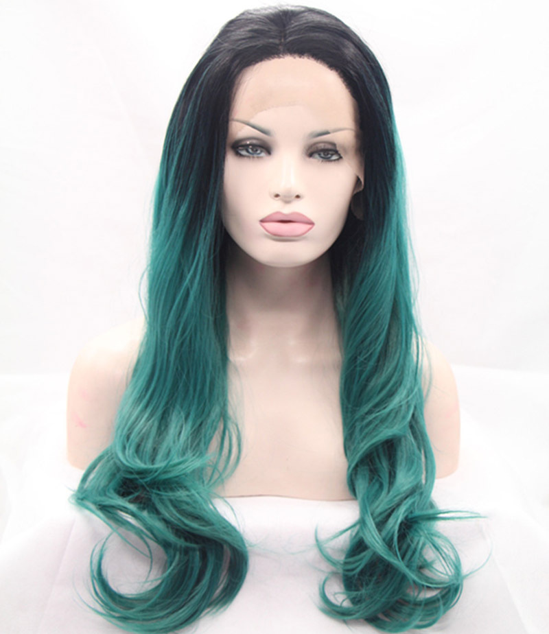 Green Ombre Wigs Hairturners
