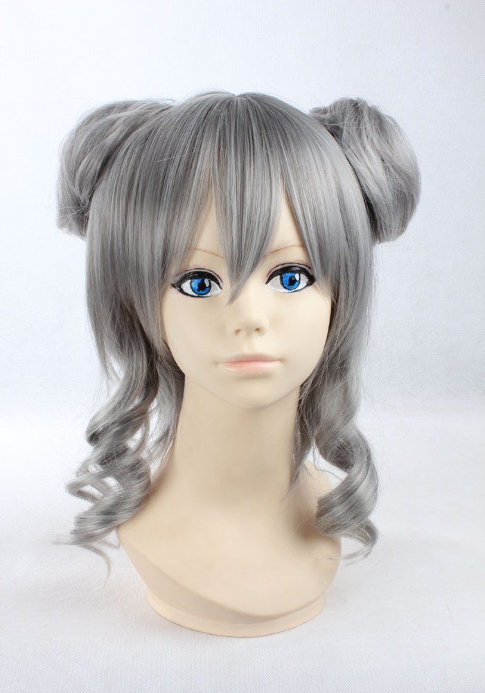 Curly Gray Wig Halloween